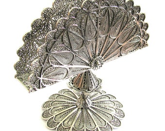 """Exclusive 4"""" X 4"""" Napkin Holder 925 Sterling Silver Filigree Tableware Handmade Collectors Item Holidays Gift- Free Express Shipping ID771"""