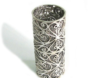 Exclusive Toothpick Holder, Handmade Artisan, Filigree, 925 Sterling Silver, Tableware, Holidays Gift - ID777