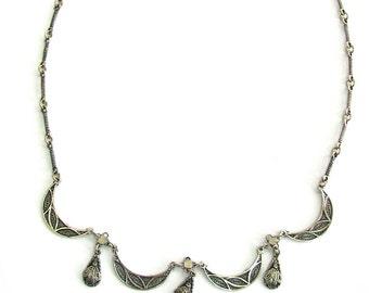 Filigree Necklace, 925 Sterling Silver, Women Jewelry  - ID230