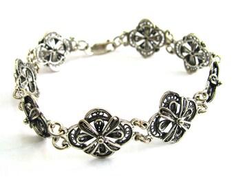Bracelet, 925 Sterling Silver Filigree  - ID265