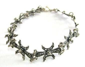Artisan Bracelet, 925 Sterling Silver, Filigree Woman Jewelry  - ID282