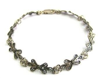 Artisan Bracelet, 925 Sterling Silver,  Filigree, Woman Jewelry  - ID284