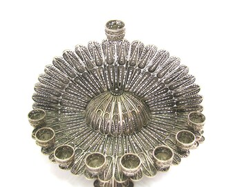 Exclusive Hanukkah Menorah 925 Sterling Silver Filigree Artisan Judaica Hanukkah Gift - Free Express Shipping - ID906