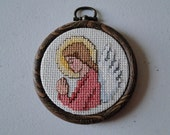 Praying Angel (in pink) Ornament