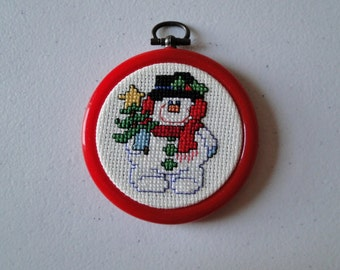 Snowman with Christmas Tree Ornament