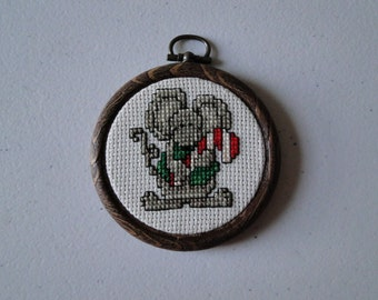 Mouse with Candy Cane Ornament