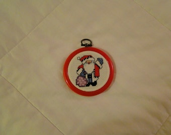 Santa with Bag Ornament