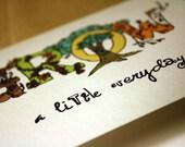 Grow A Little Everyday Blank Card