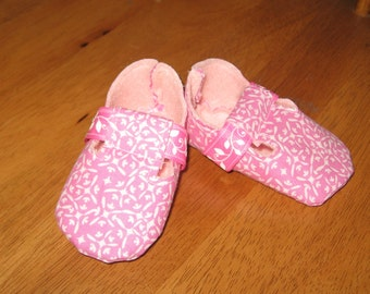 Pretty Pink Fabric Baby shoes