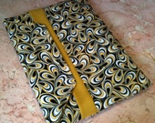ON SALE - CLOSEOUT iPad / iPad2 Case Sleeve Pouch Bag Black Gold White Swirls