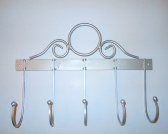 Contemporary coat rack-Repurposed metal