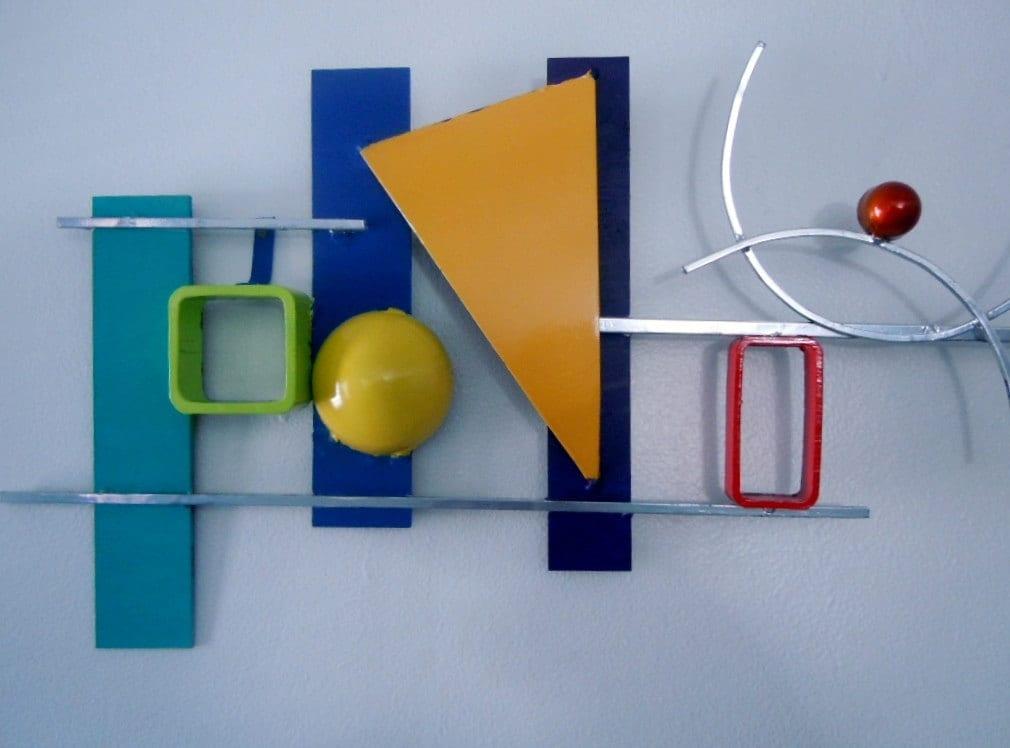 Abstract geometric memphis style wall art
