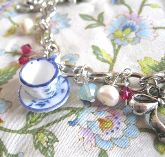 Afternoon Tea Party Charm Bracelet