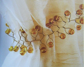Drapery Holdback, Glass Bead Wire, at Curtains by Jackie Dix