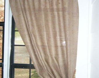 Burlap curtains & valances by CurtainsByJackieDix on Etsy
