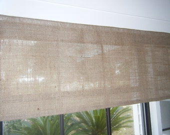 "Burlap Valance, 'The Sand Dune', 30""- 108"" Wide X 10"" - 18"" Long, by Jackie Dix"