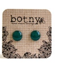 Emerald Peacock Green Brook Earrings - botny