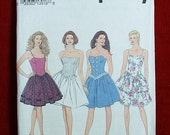 Simplicity 8357 Short full flirty prom formal dress pattern sizes 16, 18, 20 petitable