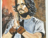 Aceo Art Print Johnny Depp Fan Art