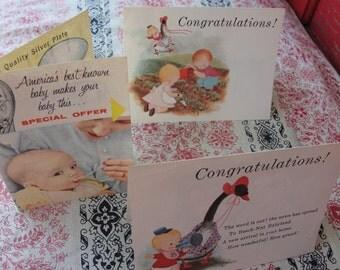 Vintage Beech nut baby food - Congratulations cards