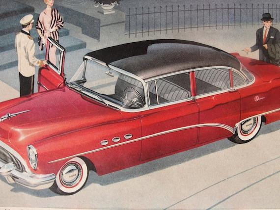 Original Vintage 1954 Buick  Sedan magazine ad