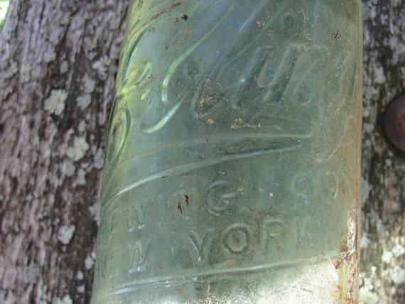 Ebling brewing company found beer bottle aqua