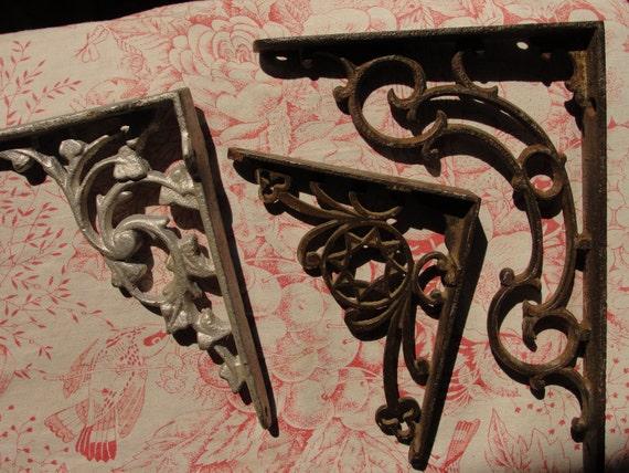 vintage shelf bracket trio