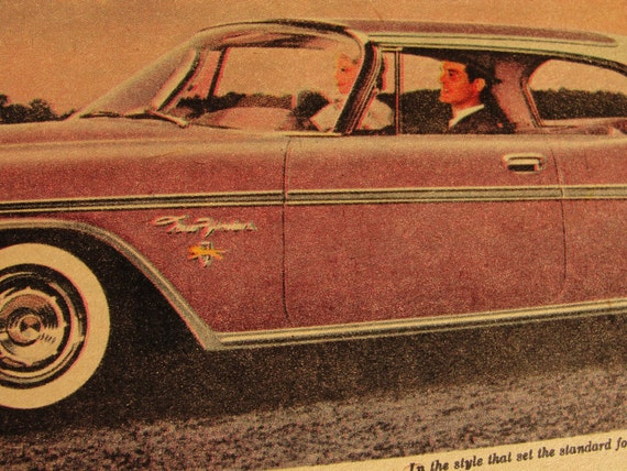 Original 1959 Lion Hearted Chrysler ad