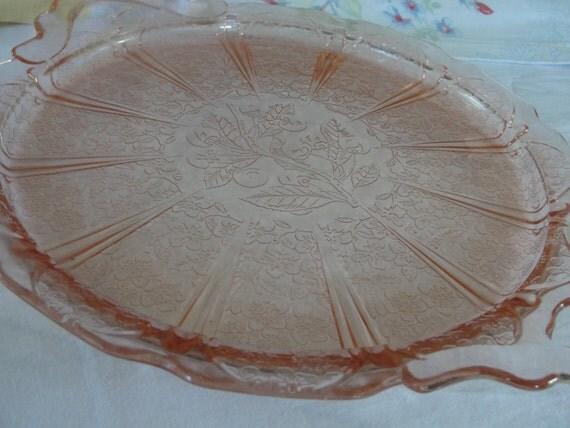 Vintage Pink Cherry Blossom Platter