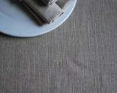 "Rough  Pure Linen Table Runner.   Undyed. Natural  Grey. Size 13"" x 78""( 33cm  x 200cm )"