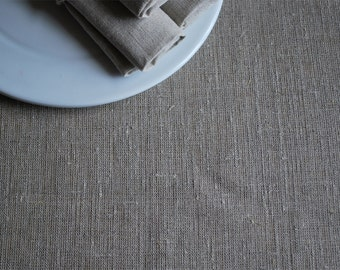 """Rough  Pure Linen Table Runner.   Undyed. Natural  Grey. Size 13"""" x 78""""( 33cm  x 200cm )"""