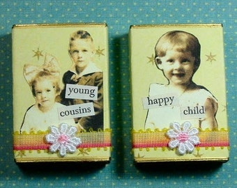 Altered Matchbox Gift Boxes - Cute Kids