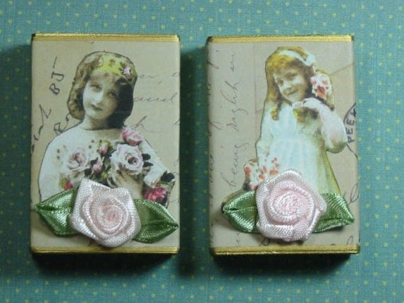 Altered Matchbox Gift Boxes - Sweet Roses