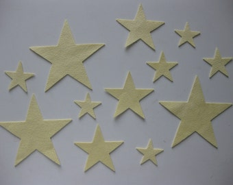 Stars that Twinkle - Pale Yellow Ultrasuede