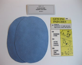 Elbow Patches - Sky Blue Ultrasuede - Set of 2