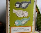 """Handmade card """"3 Little Birds"""""""