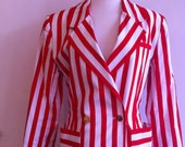 Authentic Chanel Boutique Paris Nautical Striped Blazer - MINT Condition -  EU Size 36 - Made in Paris
