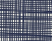 1/2 Yard Woven Crosshatch in Navy by Lotta Jansdotter for Windham Fabrics