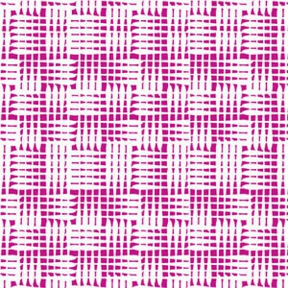 1/2 Yard Basketweave in Pink Magenta Dazzle by Melissa Averinos