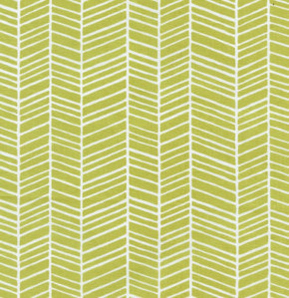 1/2 Yard Joel Dewberry Modern Meadow Herringbone in Grass Light Green