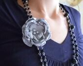 Mini Poppy Necklace Brooch