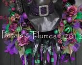 "Halloween Wreath-Fall Wreath-""Esmerelda the Wicked Witch"" - MADE To ORDER Listing-XXXL 40"""