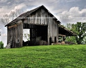 The Old Country Barn - Fine Art Photograph, Old Country Barn Print, 8x10 Old Country Barn Print, 8x10 barn print, Indiana barn photo