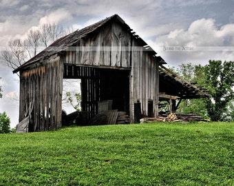 The Old Country Barn, Fine Art Photograph, Old Country Barn Print, Rustic Barn Print, Country Barn Print, Indiana Barn Photo