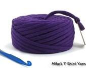 TShirt Yarn Recycled Purple 30 Yards Super Bulky Tarn