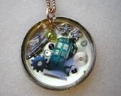 Steampunk Doctor Who Pocket Watch Necklace OOAK