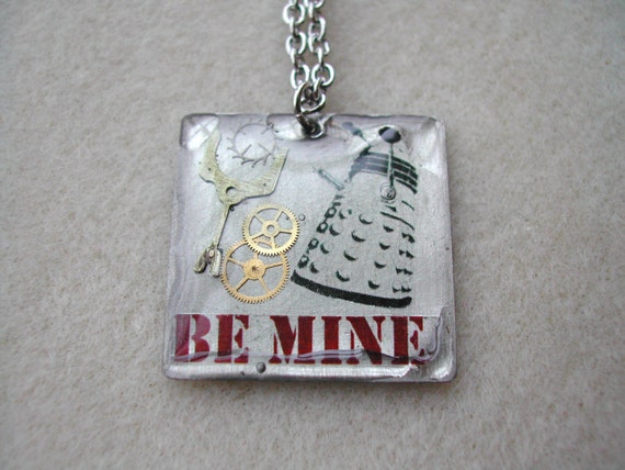 "Doctor Who Dalek Valentine ""Be Mine"" necklace"