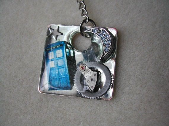 Tardis Doctor Who Steampunk keychain