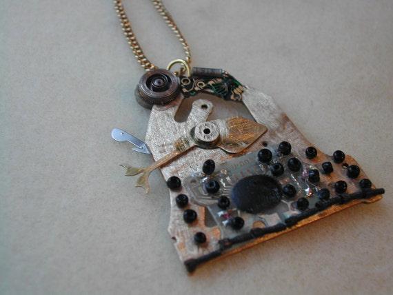 Doctor Who Dalek necklace or pin OOAK steampunk Dalek