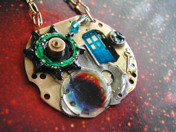 """Doctor Who Necklace Steampunk """"The Impossible Planet"""""""